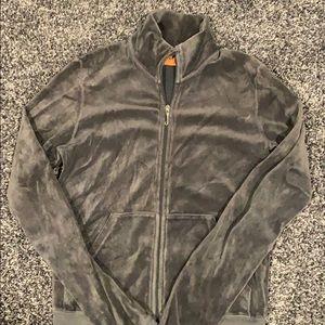 Juicy Couture velvet grey bomber zip up
